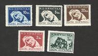 CROATIA-NDH-MNH**  set-Tax stamp-War Victims-1944.