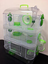 NEW 3 Solid Level Dwarf Hamster Rodent Gerbil Mice Critter Trail Habitat Cage369