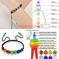 7 Chakra Healing Balance Bead Bracelet Yoga Life EnergyCharm Bracelet Jewelry hi