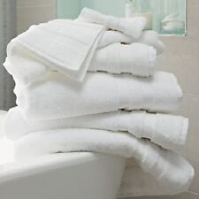 6 PURE WHITE 24X48 DELUXE BRAND SOFT BATH TOWELS 11.5# ABSORBENT PLUSH HOTEL