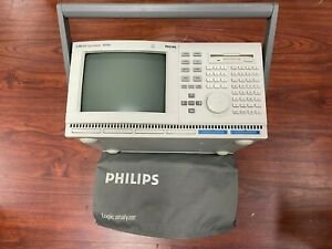 Fluke Phillip PM3580 100MHz Logic Analyzer,Configured Disk and All Cable inputs