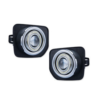 For Land Rover discovery 4 2014-16 COB Angel Eyes Clear Lens Fog Light Kit