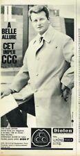 J- Publicité Advertising 1964 Manteau Imperméable Homme CCC