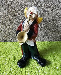 Vivian Clown mit Posaune, Posaunist, Musiker, Orchester, Band, Sammlung, 12 cm