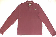 HOLLISTER LONG SLEEVE  MAROON BUTTON TOP COLLARED POLO       XL           K#7086