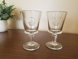 La Rochere France Footed Wine Glass Stemware with Crown, Set of 2