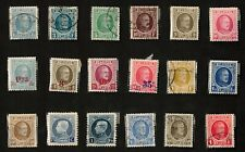 Belgium 1924-27 Mixed Lot of 18 Stamps, Some Surcharged with New Values