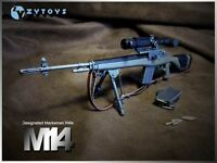 """ZY Toys 1/6 Scale ABS Weapon Model Toys M14 Automatic Sniper Rifle F 12"""" Figure"""
