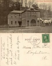 WEATHERLY PA FIRE HOUSE ANTIQUE POSTCARD