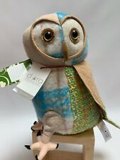 NEW DORA DESIGNS- DOORSTOP  STAY -PATCHWORK BARN OWL MULTICOLOURED PERFECT GIFT