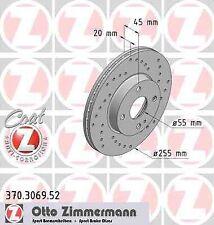 Disque de frein avant ZIMMERMANN PERCE 370.3069.52 MAZDA MX-5 II NB 1.8 16V 139
