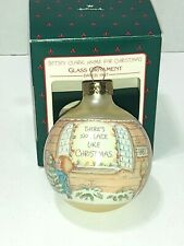 Vintage 1987 Hallmark Betsey Clark Glass Christmas Ornament