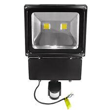 Foco de exterior LED COB sensor movimiento 100 Vatios Blanco cálido
