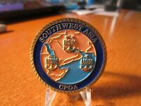 United States Navy Southwest Asia CPOA Desert Chief Bahrain Challenge Coin #4050