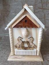 Wooden handcrafted key holder storage wall mount hand made from wood HORSES