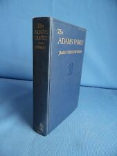 The Adams Family by James Truslow Adams (First Edition/1930/Illustrated)