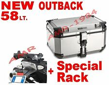 BAULE TREKKER OUTBACK 58 LT TRIUMPH TIGER 800  800X 2011-14 + SR6401 OBK58A ALLU