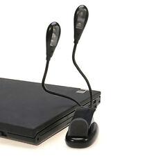 2 Dual brazos con Clip LED Lámpara para libro lectura - 360 Grados Flexible (4 '