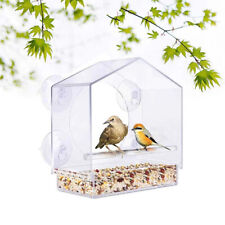 Window Viewing Bird Feeder Hotel Table Seed Peanut Hanging Suction AdsorptioYCL