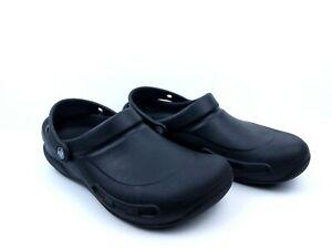 CROCS Unisex Classic Black Slip On Croc Comfort Shoes Women's 9 Men's 7