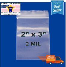 2x 3 Clear Reclosable Zip Seal Bag Plastic 2 Mil Lock Bags Jewelry Zipper