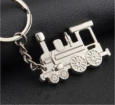 Mirror Polished Detailed Steam Train Keyring Keychain Men/Women Gift