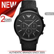 Emporio Armani Reloj Edición Limitada De Caballero Deportivo Cuadrante con Cronógrafo │ │ │ Correa De Cuero Negro AR2461