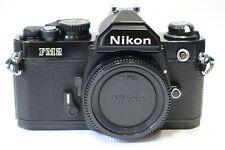 Nikon FM2 35 mm SLR Caméra Corps, rare noir pré-N Version, état de fonctionnement complet