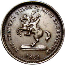 Federal Union It Must Be Preserved Soldier On Horse Patriotic Civil War Token