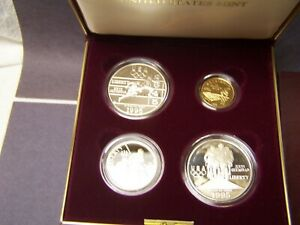 1995 Olympic 4 FOUR COIN PROOF SET Atlanta Centennial Olympic Games *GOLD COIN*