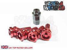 4 x Red Alloy Locking Wheel Bolts M12x1.5 fits Suzuki Swift Sport