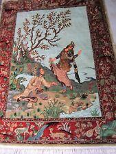 Echtes handgeknüpftes Seiden Teppich china seide ca.142x107 cm sehr gut erhalten