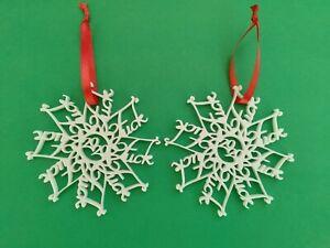 F*ck 2020 Ornament Snowflake FuckFlake white ABS plastic LOT OF 2