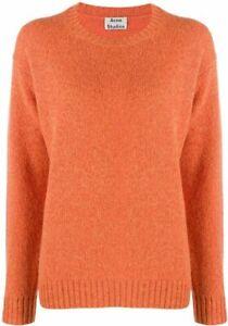 Orig. Acne Studios Pullover Samara orange 100% Wolle Größe XXS 32 34 36 top!