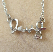 LOVE NECKLACE, SILVER SETTING, BIRTHDAY, CHRISTMAS, AND MORE