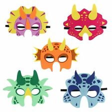 5pcs Felt Dinosaur Face Mask Themed Birthday Party Supply  Baby Shower Kids Gift