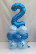 2ND birthday balloon kit,blue table centre display,2ND birthday party,fast post