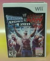 WWE SmackDown vs. Raw 2011 Complete Wrestling Nintendo Wii 2010 Working Tested