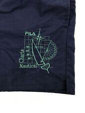 Vintage! FILA Men's Dark Blue Shorts Size EU52 UK42