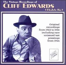 """The Vintage Recordings of Cliff Edwards (Ukulele Ike) by Cliff """"Ukelele Ike"""" Edw"""