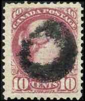 Canada #40a used VF 1880 Queen Victoria 10c magenta Small Queen CV$120.00