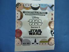 STAR WARS TSUM TSUM Disney Pin 5 PINS SERIES 3 Collectible PIN PACK Mystery SALE