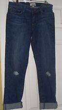 NWT $179 PAIGE Premium Denim Jeans KYLIE Roll Up Evelyn Destructed size 31