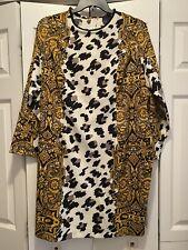 ASOS Curve Size 18 Dress Leopard Cheetah Black Gold White