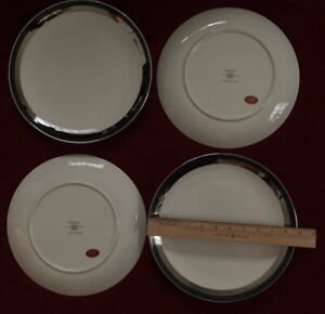 Gorham Black Contessa Dinner Plates – Set of Four - New