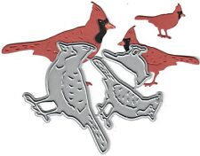 Dies...to die for metal cutting craft die Cardinal Family trio - stanging