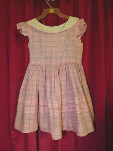 Vintage Girl's Pink Plaid Dress  size 6?