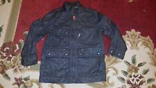Gap Kids Faux Leather Boy's Moto Jacket, Small (6/7), Flint Gray