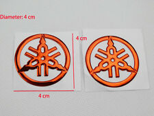 Pair 40mm Tuning Fork ank Fairing Emblems Decal Sticker For Yamaha Racing 3D Red