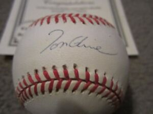 Tom Glavine Signed Baseball National League Atlanta Braves Mounted Memories